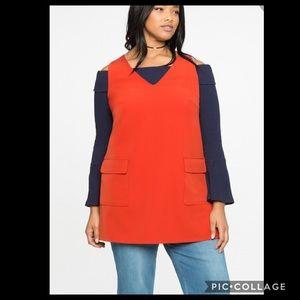 ELOQUII•Milan crepe tunic